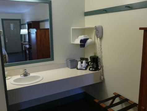 Sink area - standard room